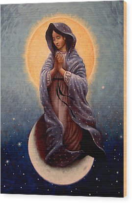 Mary Queen Of Heaven Wood Print