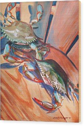 Maryland Blue Crabs Wood Print