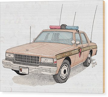 Maryland State Police Car Wood Print by Calvert Koerber
