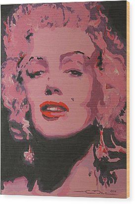 Marylin Monroe Wood Print by Eric Dee
