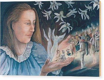 Mary's Hands - Les Mains De Marie Wood Print