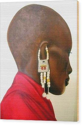 Masai Woman - Original Artwork Wood Print