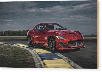 Maserati Gran Turismo G T Sport Wood Print by Movie Poster Prints