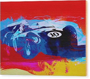 Maserati On The Race Track 1 Wood Print by Naxart Studio