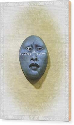 Mask 1 Wood Print by Don Lovett
