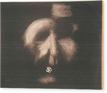 Wood Print featuring the photograph Mask by AJ Brown