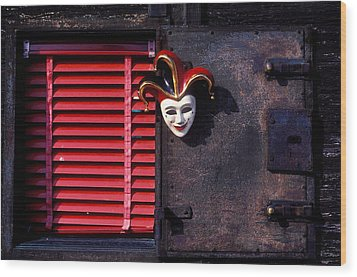 Mask By Window Wood Print by Garry Gay