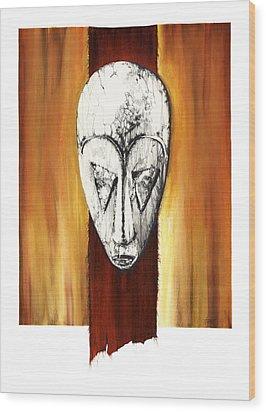 Mask II Untitled Wood Print