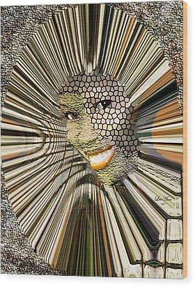 Masquerade Wood Print by LeeAnn Alexander