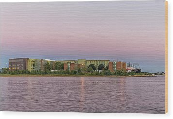 Massachusetts Maritime Academy At Sunset Wood Print by Brian MacLean