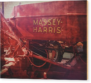Massey Harris Vintage Tractor Wood Print by Ann Powell