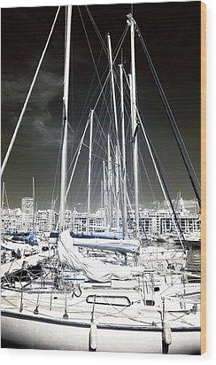 Mast Angles Wood Print by John Rizzuto