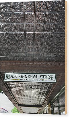 Wood Print featuring the photograph Mast General Store II by Skip Willits