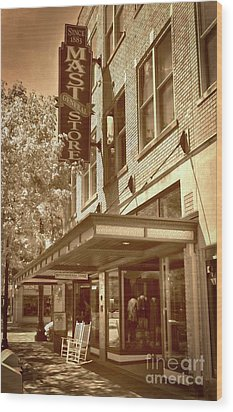 Wood Print featuring the photograph Mast General Store by Skip Willits