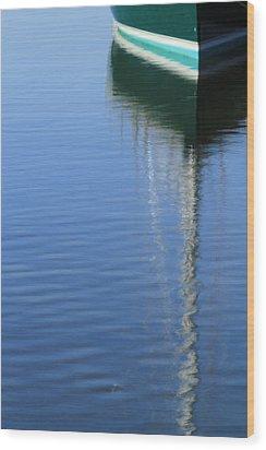 Mast Reflections Wood Print by Karol Livote