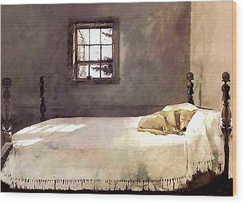 Master Bedroom  Wood Print by Andrew Wyeth