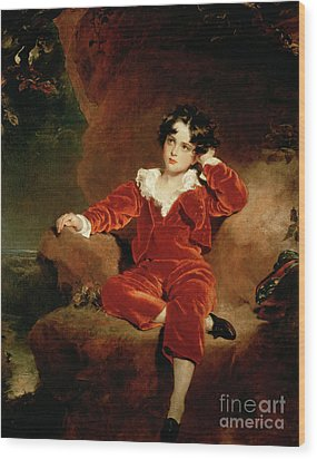 Master Charles William Lambton Wood Print by Sir Thomas Lawrence