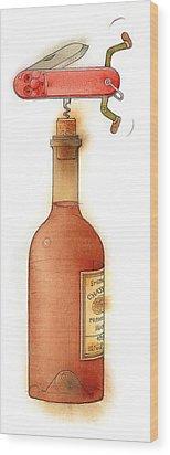 Master Pocketknife 02 Wood Print by Kestutis Kasparavicius