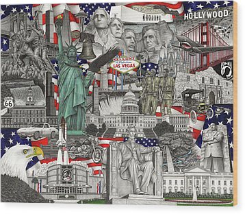 Masterpiece America Wood Print