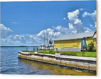 Wood Print featuring the photograph Matlacha Florida Waterway by Timothy Lowry