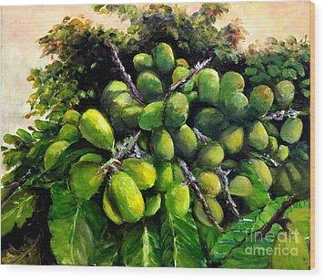 Matoa Fruit Wood Print by Jason Sentuf