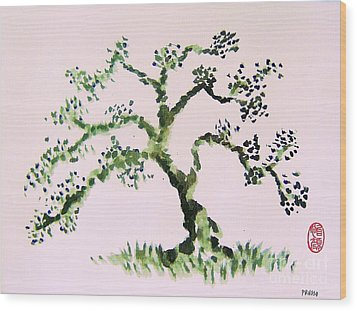 Wood Print featuring the painting Matsushima Ume No Ki  by Roberto Prusso