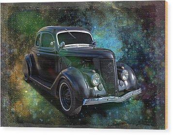 Matt Black Coupe Wood Print by Keith Hawley