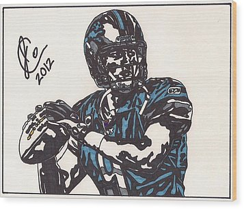 Matthew Stafford Wood Print by Jeremiah Colley