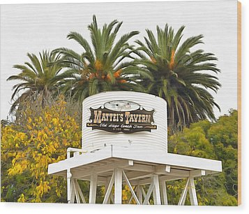 Wood Print featuring the photograph Matties Tavern Los Olivos California by Floyd Snyder