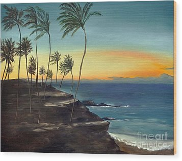 Wood Print featuring the painting Maui by Carol Sweetwood