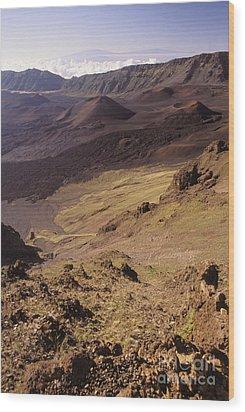 Maui, Haleakala Crater Wood Print by Mary Van de Ven - Printscapes