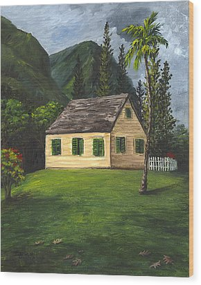 Wood Print featuring the painting Maui Nature Center by Darice Machel McGuire