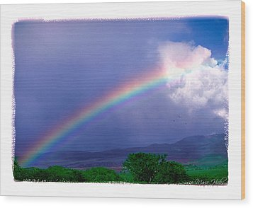Wood Print featuring the photograph Maui Rainbow by Marie Hicks