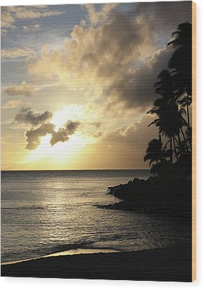 Wood Print featuring the photograph Maui Sunset Vertical by Rau Imaging