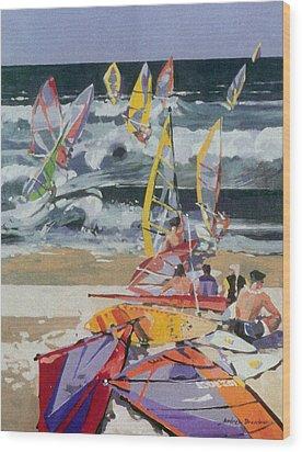 Maui Surf 2 Wood Print