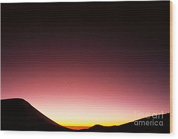 Mauna Kea, Summit Wood Print by Mary Van de Ven - Printscapes