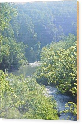 Maury River Wood Print by Eddie Armstrong