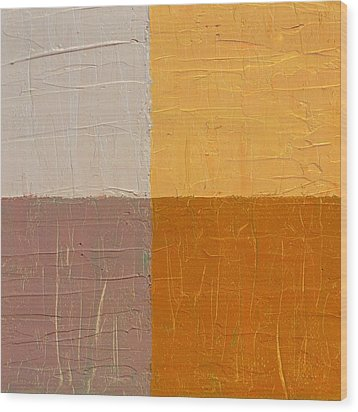 Mauve And Peach Wood Print by Michelle Calkins