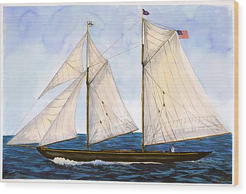 Mavis 1901 Wood Print