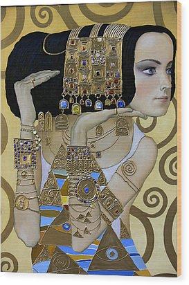Mavlo - Klimt A Wood Print by Valeriy Mavlo