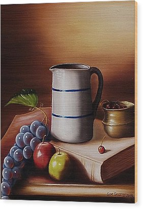 Wood Print featuring the painting Maws Pitcher by Gene Gregory