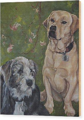 Max And Molly Wood Print