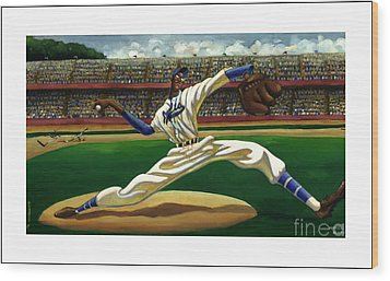 Max On The Mound Wood Print by Keith Shepherd