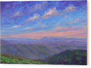 Max Patch North Carolina Wood Print by Jeff Pittman