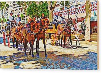 May Day Fair In Sevilla, Spain Wood Print