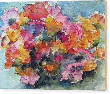 May Flowers Wood Print by Anne Duke