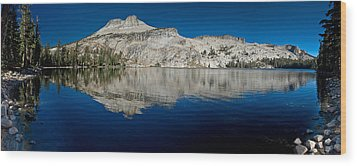 May Lake Panorama Wood Print