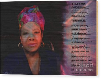 Maya Angelou Wood Print