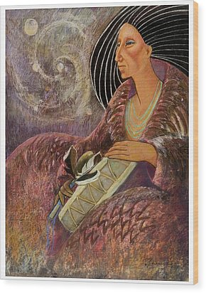 Mayan From Milky Way Gallacy Wood Print