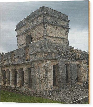 Mayan Stone Homes  Wood Print